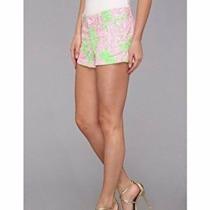 Lilly Pulitzer Walsh Limeade Pink Shorts 4